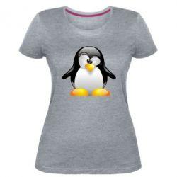 Жіноча стрейчева футболка Пінгвін