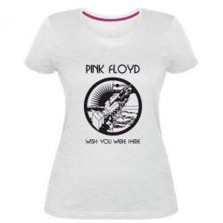 Женская стрейчевая футболка Pink Floyd Wish You