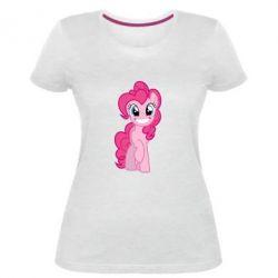 Жіноча стрейчева футболка Pinkie Pie smile - FatLine