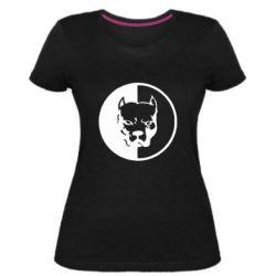 Жіноча стрейчева футболка Pitbull