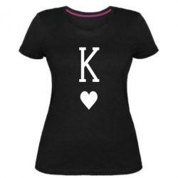 Жіноча стрейчева футболка Playing Cards King