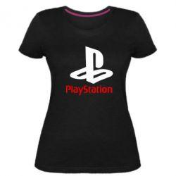 Жіноча стрейчева футболка PlayStation - FatLine