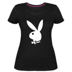 Женская стрейчевая футболка плейбой - FatLine