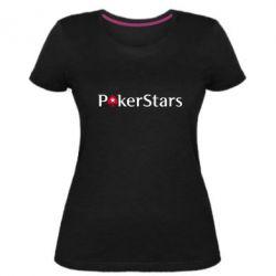 Жіноча стрейчева футболка Покер Старс