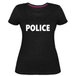 Женская стрейчевая футболка POLICE