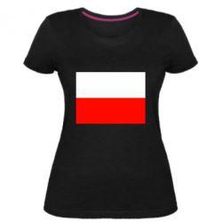 Женская стрейчевая футболка Польша