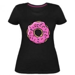 Женская стрейчевая футболка Пончик Гомера