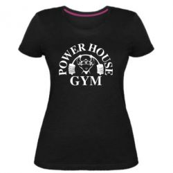 Женская стрейчевая футболка Power House Gym