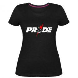 Жіноча стрейчева футболка Pride