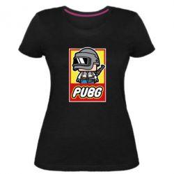 Женская стрейчевая футболка PUBG LEGO