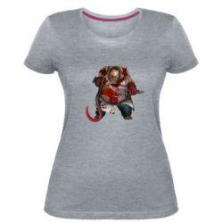 Жіноча стрейчева футболка Pudge Dota 2