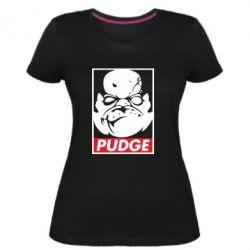 Женская стрейчевая футболка Pudge Obey