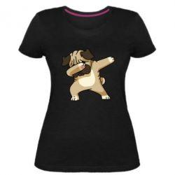 Жіноча стрейчева футболка Pug Swag