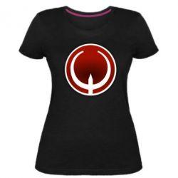 Жіноча стрейчева футболка Quake Logo