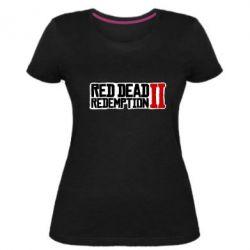 Жіноча стрейчева футболка Red Dead Redemption logo