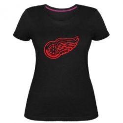 Женская стрейчевая футболка Red Wings
