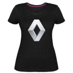 Жіноча стрейчева футболка Renault Logo