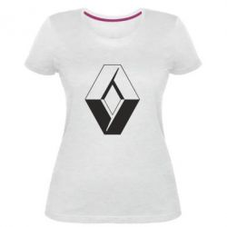 Женская стрейчевая футболка Renault
