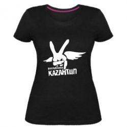 Женская стрейчевая футболка Республика Казантип