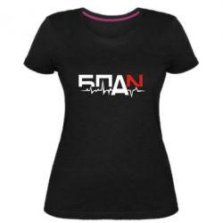 Жіноча стрейчева футболка Ритм БПАН