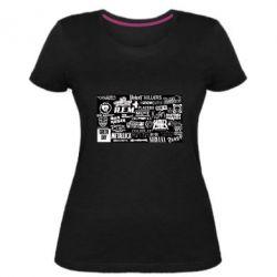 Жіноча стрейчева футболка Роck logo