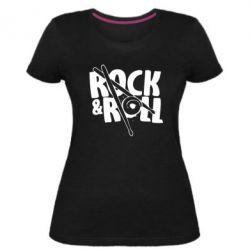 Жіноча стрейчева футболка Rock&Roll