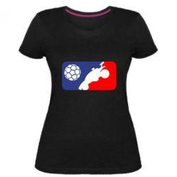 Жіноча стрейчева футболка Rocket League blue and red