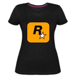 Жіноча стрейчева футболка Rockstar Games logo