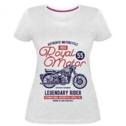 Жіноча стрейчева футболка Royal Motor 1955