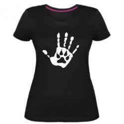 Женская стрейчевая футболка Рука волка