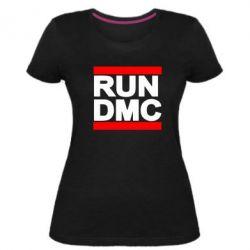 Женская стрейчевая футболка RUN DMC - FatLine