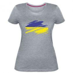Женская стрейчевая футболка Рваний прапор