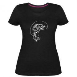 Жіноча стрейчева футболка Риба
