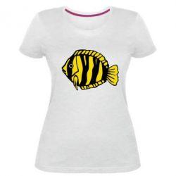 Женская стрейчевая футболка рыбка - FatLine