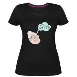 Жіноча стрейчева футболка Найвеселіша бабуся