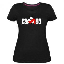 Жіноча стрейчева футболка Самбо