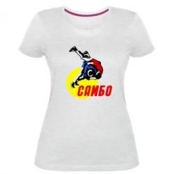 Жіноча стрейчева футболка Sambo