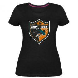 Жіноча стрейчева футболка San Jose Sharks