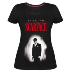 Жіноча стрейчева футболка Scarface Platinum
