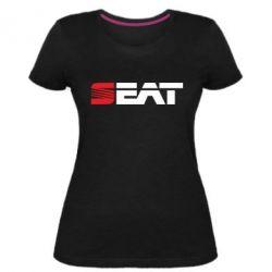 Женская стрейчевая футболка Seat Motors