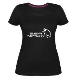 Женская стрейчевая футболка SEAT SPORT