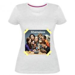Жіноча стрейчева футболка Shameless