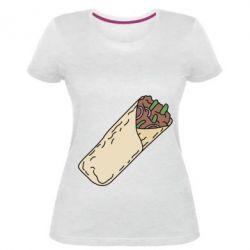 Женская стрейчевая футболка Шаурма