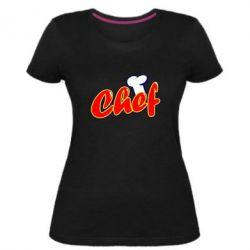 Женская стрейчевая футболка Шеф-повар