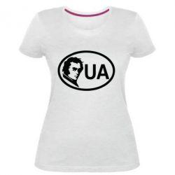 Жіноча стрейчева футболка Shevchenko UA