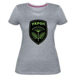 Женская стрейчевая футболка Шеврон Укропа
