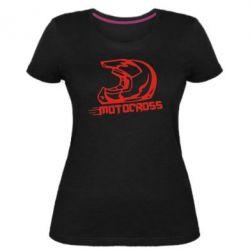 Жіноча стрейчева футболка Шолом Мотокросу