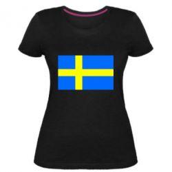 Жіноча стрейчева футболка Швеція