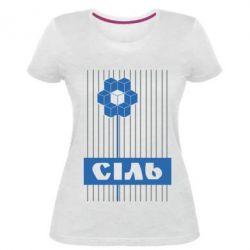 Женская стрейчевая футболка Сіль
