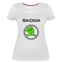 Женская стрейчевая футболка Skoda Bird